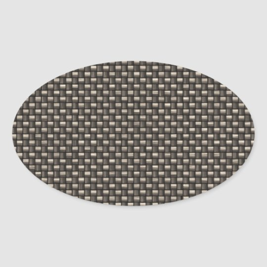 Carbon Fibre Pattern (Faux) Oval Sticker