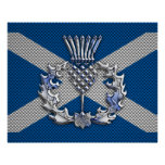 Carbon Fibre Print Scotland Flag