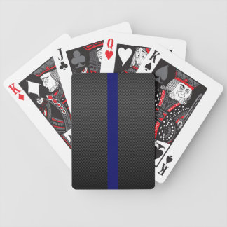 Carbon Fibre Thin Blue Line Black Face Cards