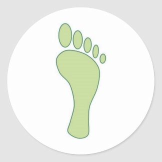 Carbon FootPrint Green Classic Round Sticker