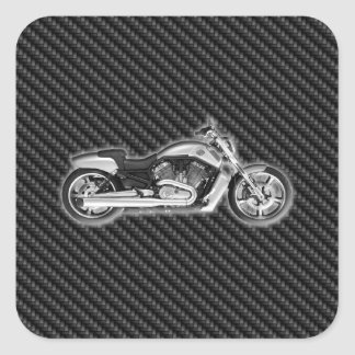 Carbon Harley Motorcycle 3D Fashion Accessory Square Sticker