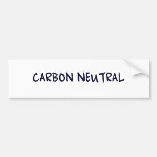 Carbon Neutral Bumper Sticker