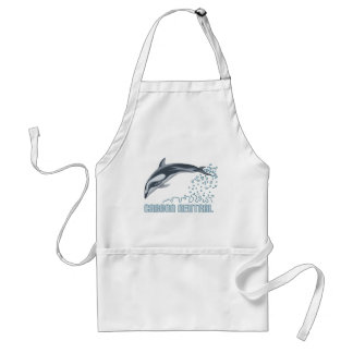 Carbon neutral conservation / dolphin jumping standard apron