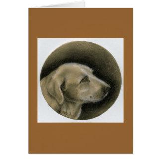 Carbon Pencil Dog Portrait Card