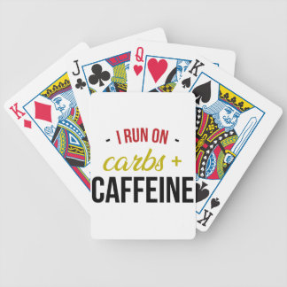 Carbs & Caffeine Bicycle Playing Cards