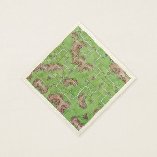 Carcassone Board Napkins Disposable Napkins