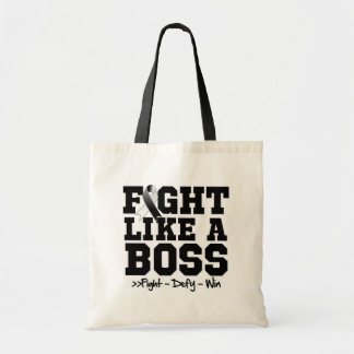 Carcinoid Cancer Fight Like a Boss Tote Bags