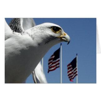 "Card, ""Bird and Flags"" Card"