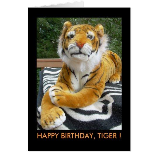 CARD, BIRTHDAY<TIGER CARD