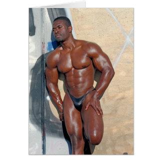 Card, bodybuilder Jean SCUTT, # 58A Card