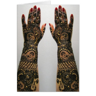 Card Bridal wedding Mehndi