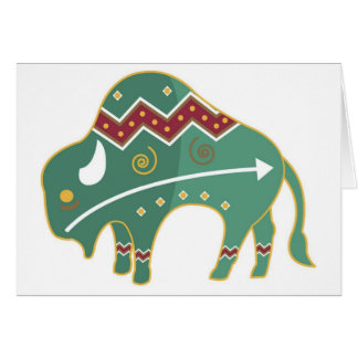Card Buffalo Image Native American