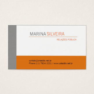 Card Business Orange Gray