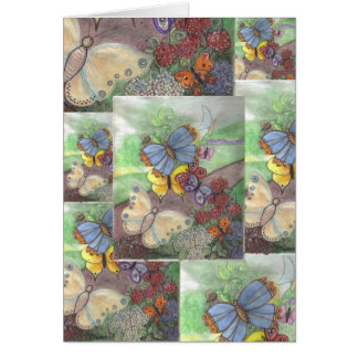 "Card ""Butterflies at Dawn"""