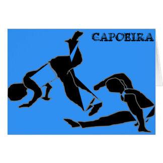 Card capoeira martial arts parabens birthday