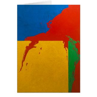 """Card: """"Color Spill"""" Card"""