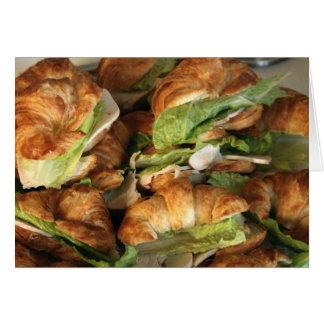 """Card, """"Croissant Sandwiches"""" Card"""