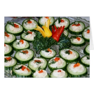 "Card, ""Cucumber Canapes"" Card"