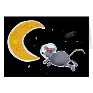 Card De Aniversário - Mouse In Space