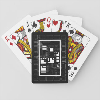 "Card deck ""Labyrinth of squares"" black and white"