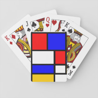 Card deck of Mondrian style