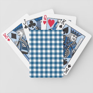 Card deck with checkered tablecloth pattern