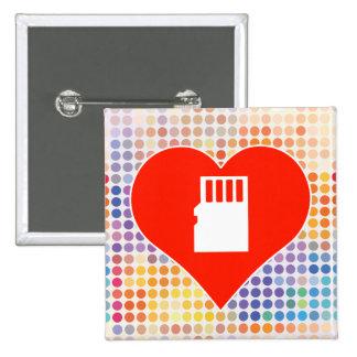 Card Fan 2 Inch Square Button