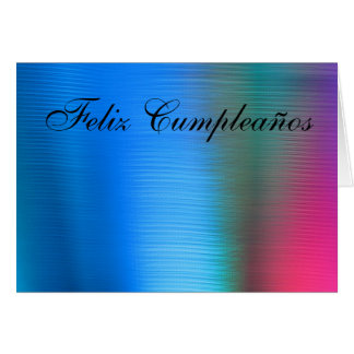 Card - Feliz Cumpleaños - Azul