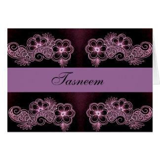 Card floral Mehndi