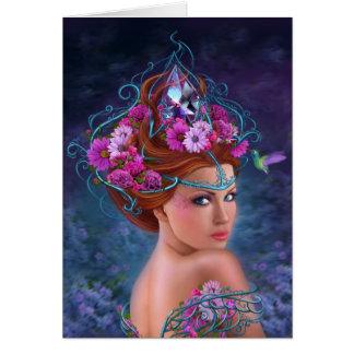 Card Flower queen