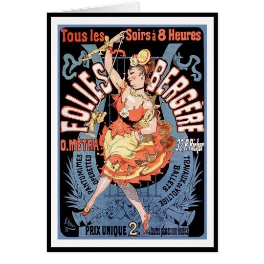 Card: Folies Bergere - Dance Hall Card