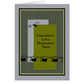 Card for a Pharmaceutical Degree