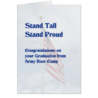 Card for Army Boot Camp Graduation