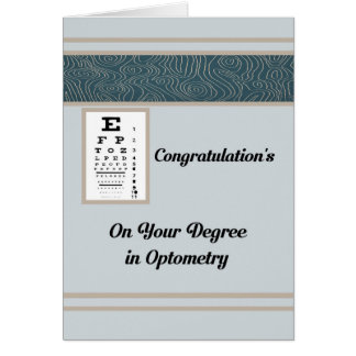 Card for Degree in Optometry