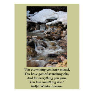 """Card """"For everything you have missed"""" -Emerson Postcard"""