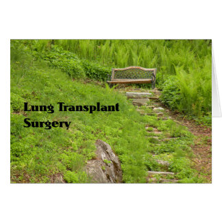Card for Lung Transplant Surgery Bench in Nature