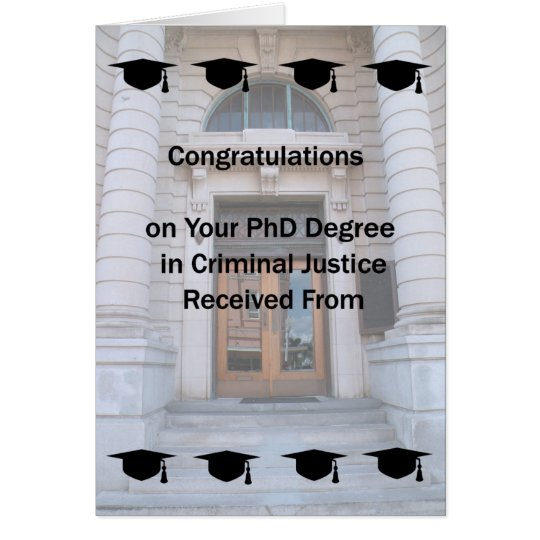 Card for PhD in Criminal Justice