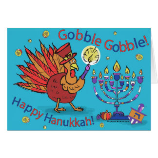 Card for Thanksgiving and Hanukkah-Thankgivukkah!