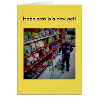 Card for the new pet owner