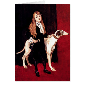 Card: Girl With Greyhound Card