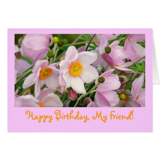 "card, ""Happy Birthday, My Friend"""