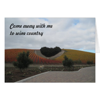 Card: Heart-Shaped Oak Grove in Vineyard Card