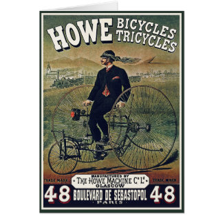 Card:  Howe Bicycles Tricycles Card