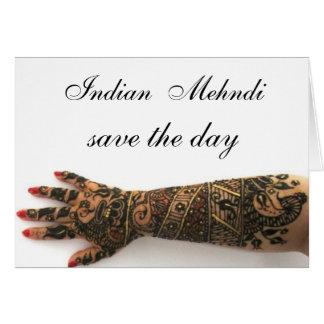 Card indian mehndi bridal