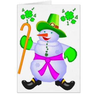 Card-Irish Snowman Christmas Blessings Ireland Card