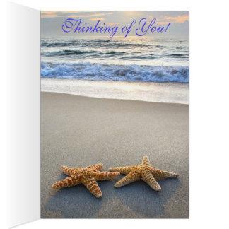 CARD-LOVERS BEACH CARD - STARFISH!