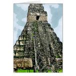 Card: Mayan Temple at Tikal, Guatemala