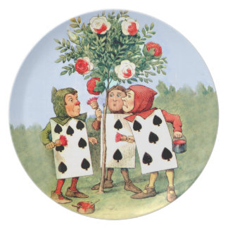 Card Men Paint The Queen's Rose Red Plate