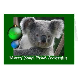 Card Merry Xmas From Australia Koala