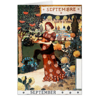 Card: Month of  September - Septembre Card